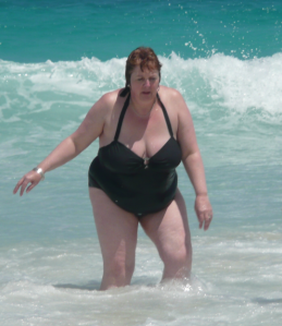 Me on holiday at my heaviest