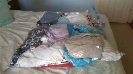 Summer Clothes ready for sorting